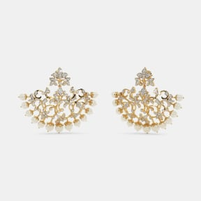 The Banafshi Chand Bali Earrings