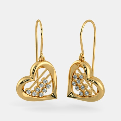 The Love code Drop Earrings