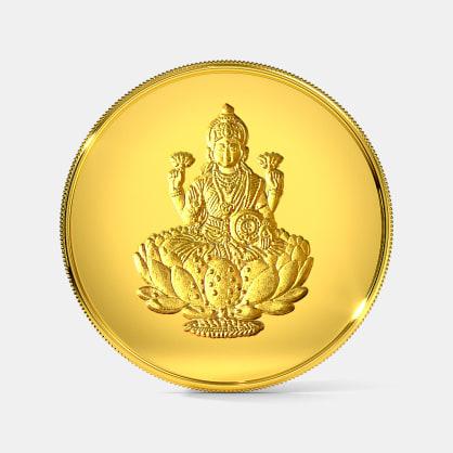 1 gram 24 KT Lakshmi Gold Coin