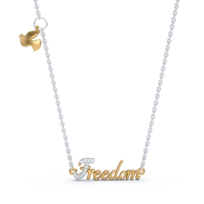 The Freedom Script Necklace