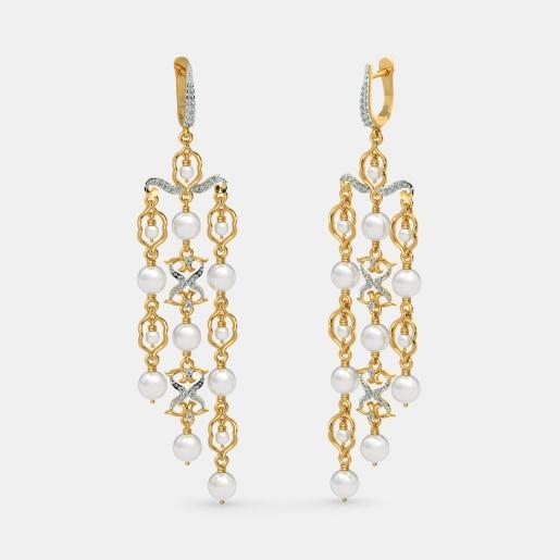 The B Iconic Cascade Chandelier Earrings
