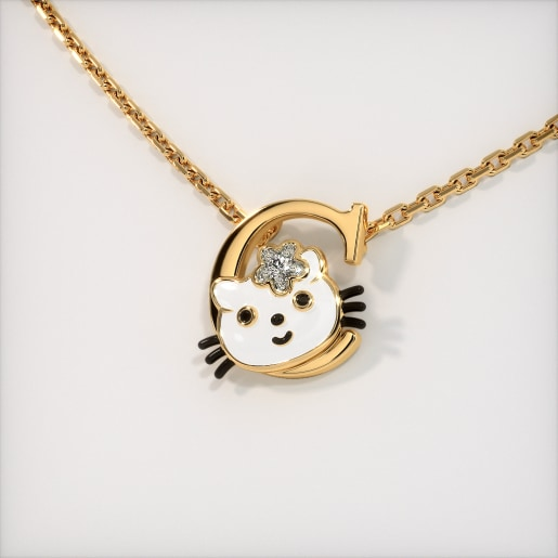 The C for Cat Necklace for Kids