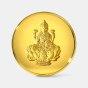 1 gram 24 KT Lakshmi Gold CoinFront