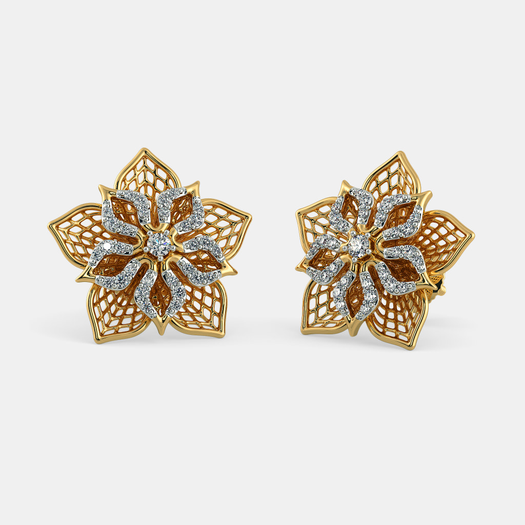 The Daffodil Lattice Stud Earrings