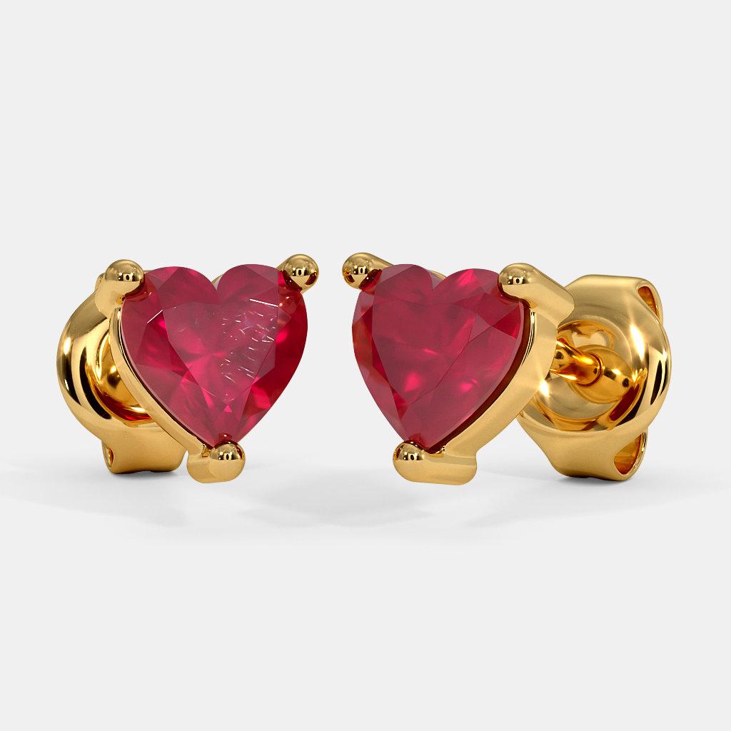 The Cute Heart Kids Stud Earrings