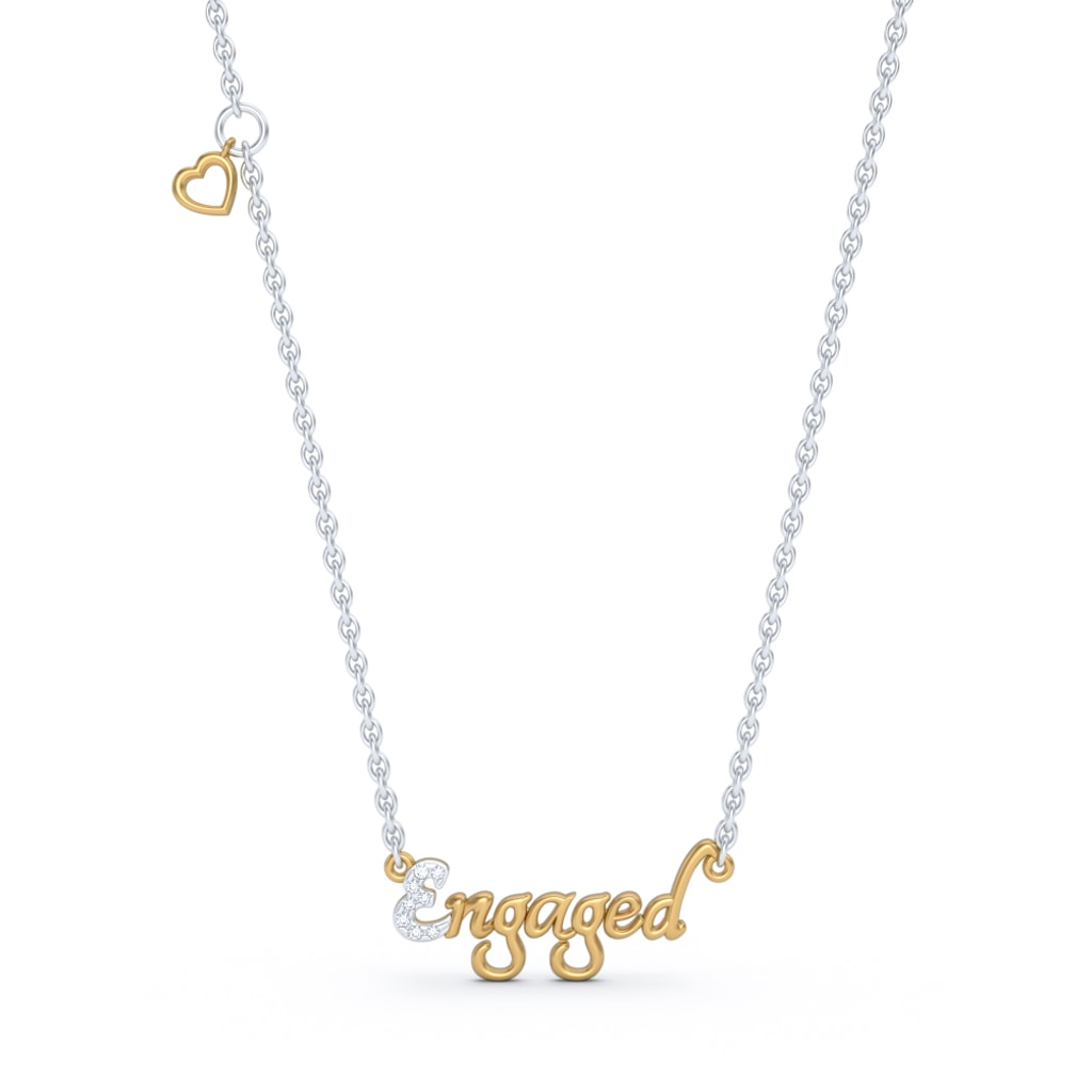 The Engaged Script Necklace