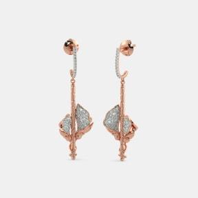 The Anuka Roseate Drop Earrings