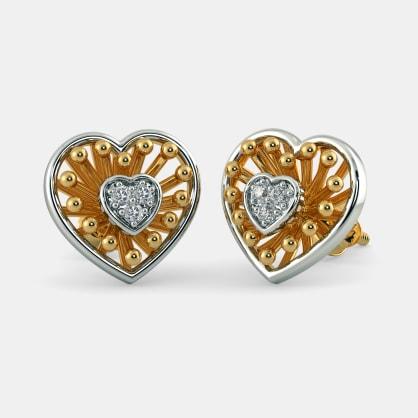 The Monica Heart Earrings