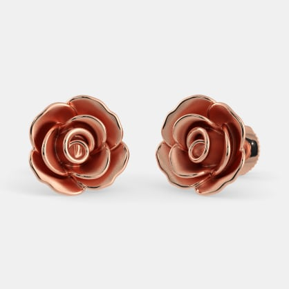 The Blooming Rose Stud Earrings