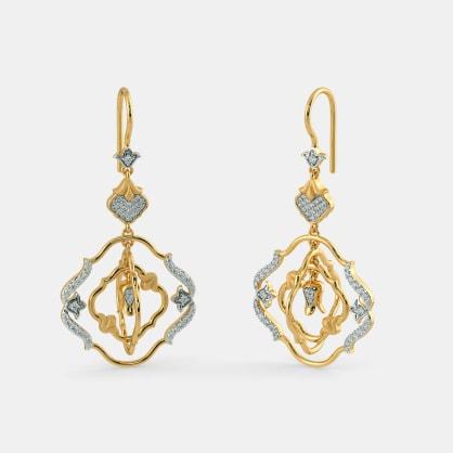 The Ivonne Floral Drop Earrings