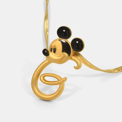 The G For Gracious Mickey Pendant For Kids