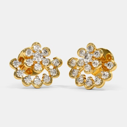 The Encircled Ethnic Jacket Stud Earrings