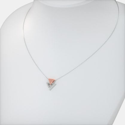 The Triangle Halo Necklace