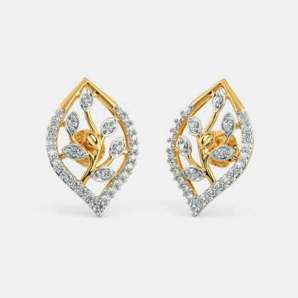 The Imaginative Leaves Stud Earrings