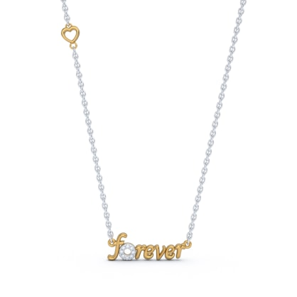 The Forever Script Necklace