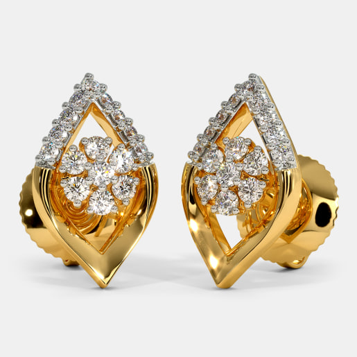 03c43b826f3 Gold Earrings - Buy 2300+ Gold Earring Designs Online in India 2019 ...