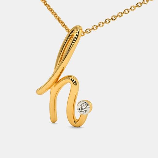 The Cursive H Necklace