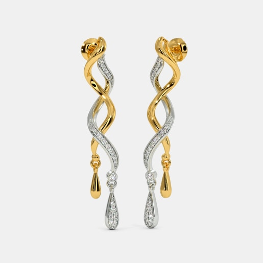The Entwined Ribbon Drop Earrings