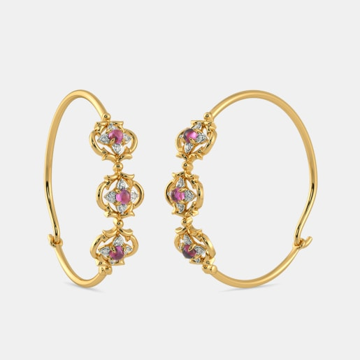 The Gorgeous Floret Hoop Earrings