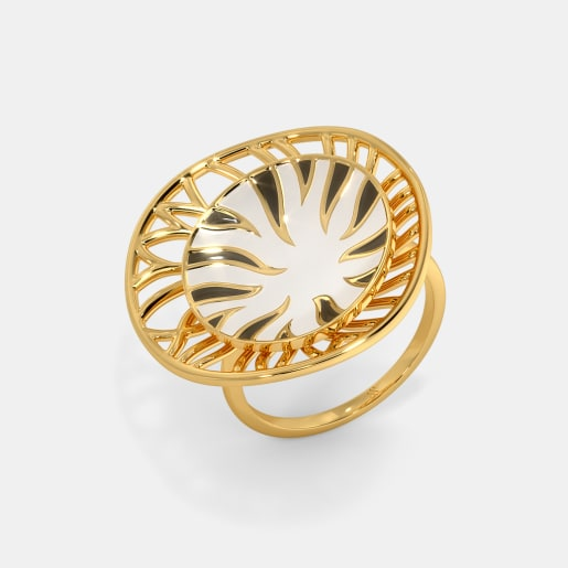 The Zebra Print Cocktail Ring