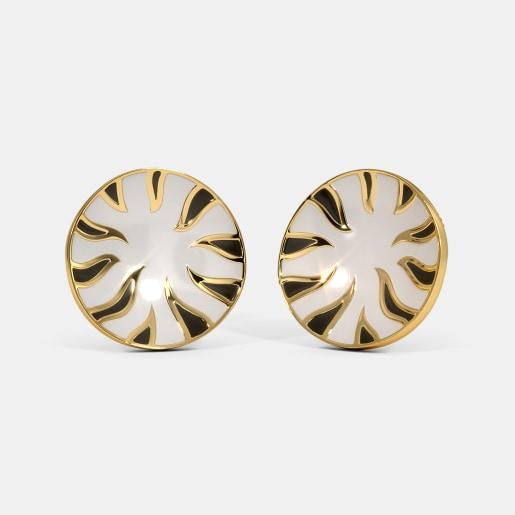 The Zebra Print Stud Earrings