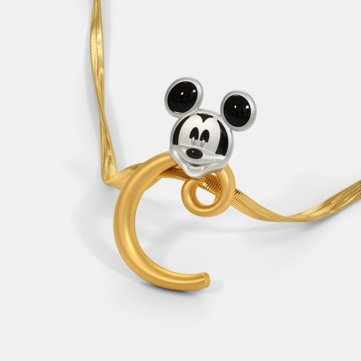 The C For Charming Mickey Pendant For Kids