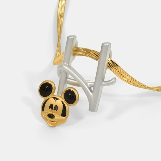The H For Happy Mickey Pendant For Kids