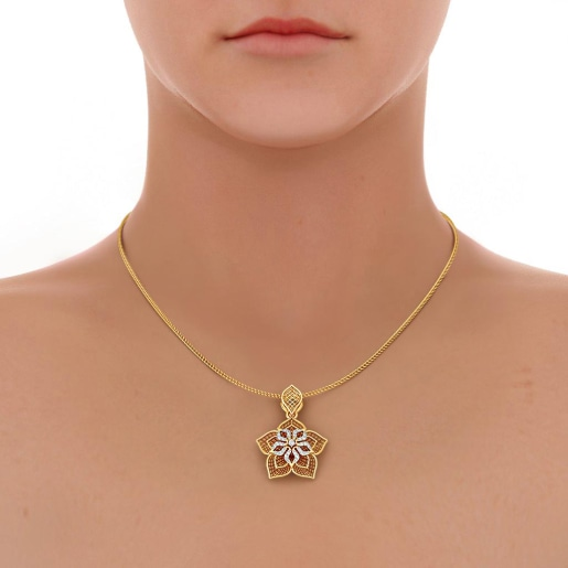 The Daffodil Lattice Pendant
